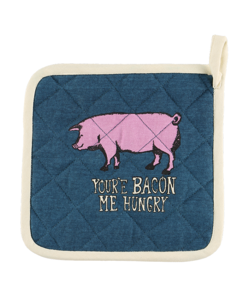 Bacon Me Hungry Pig Pot Holder - Lazy One®